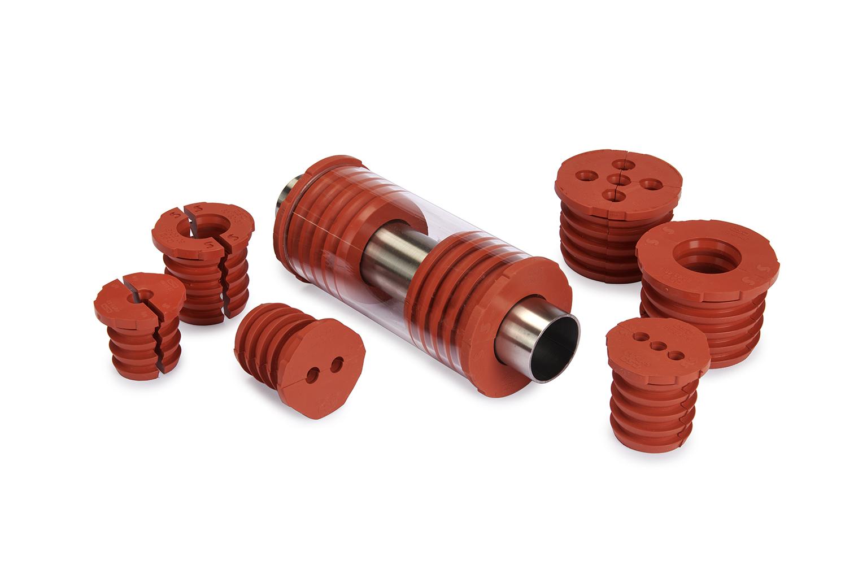 Slipsil er silikongummi-baserte plugger for rørgjennomføringer og tåler å bli utsatt for høyt trykk umiddelbart etter installasjon.